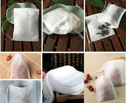 100 Pcs Non-woven Disposable Filter Empty Teabags Herb Loose
