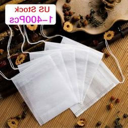 400x Empty Teabags String Heat Seal Filter Paper Herb Loose