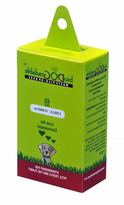 45 poop bags for dog waste, biodegradable and compostable do