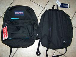 $56 NWT JANSPORT DIGIBREAK BLACK/TEAL BUILT FOR DIGITAL SCHO