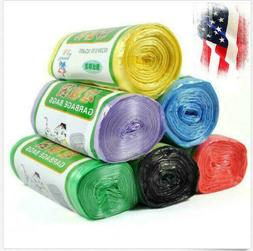 6 Roll Small Garbage Bag Trash Bags Durable Disposable Plast