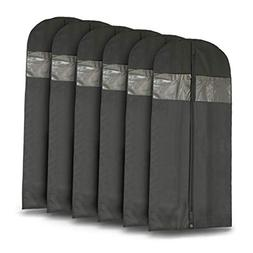 "Plixio 60"" Black Garment Bags for Breathable Storage of Dres"