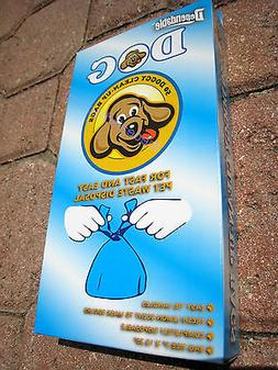Box of 50 Dog Waste Poop Pick Up Bags, with Convenient Tie H