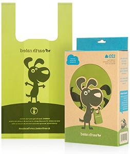 Earth Rated 120-Count Dog Waste Bags, Unscented Poop Bags wi