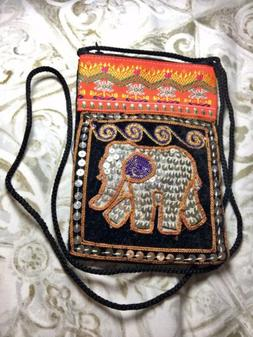 Elephant Gitters Handmade bag with strap and zipper from Tha