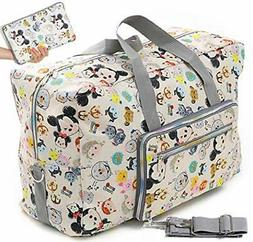 Foldable Travel Duffle Bag for Women Girls Large Cute Floral