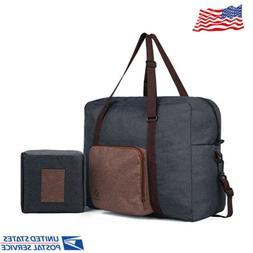 Foldable Travel Duffle Bag Tote Carry on Luggage Large Shoul