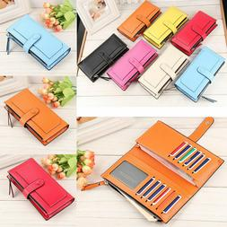 Hot New Women's Long Leather Clutch Wallet Card Holder Cases