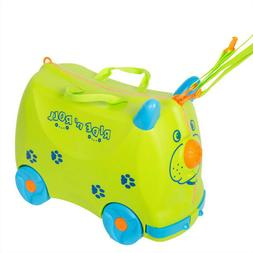 Kid's Ride On Roll Suitcase Travel Luggage & Storage Bag
