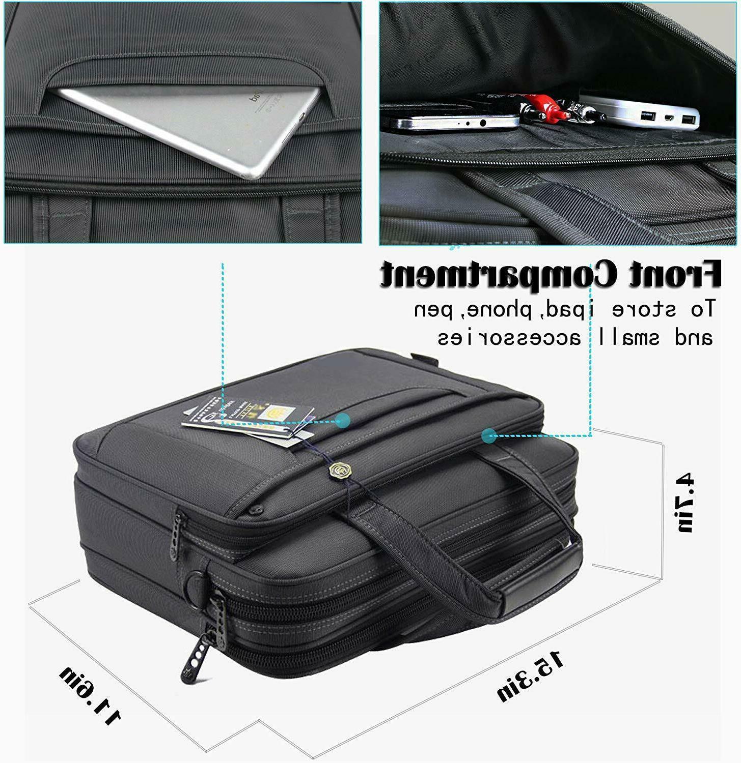 Briefcase 15.6 Inch Laptop Messenger Office Bag Wome...