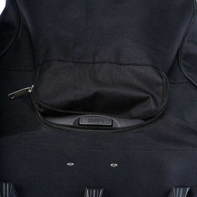 Duffel Large Men With Wheels Travel Carry-On Gym Rolling Strap NEW