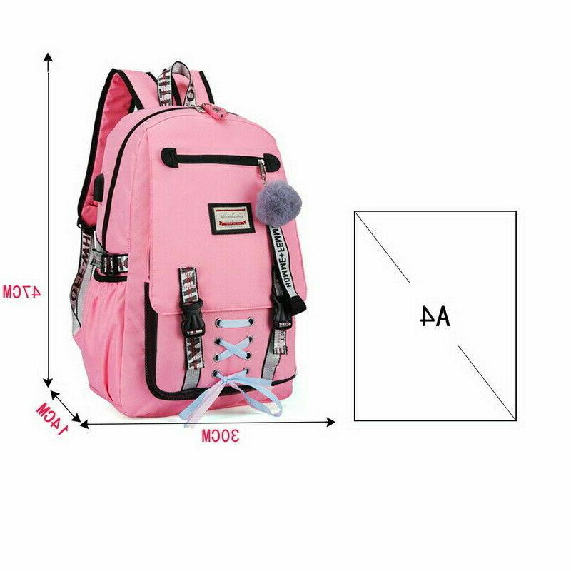 2019 Large School for Teenage Girls with Lock Backpack