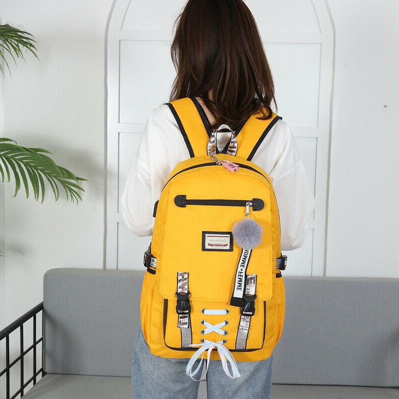 2019 Large Bags for Teenage Girls Usb with Lock Theft Backpack