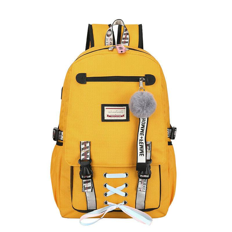 2019 Bags for Teenage Girls with Lock Theft Backpack