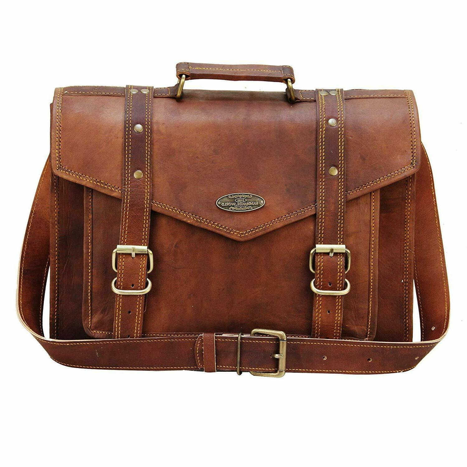 Leather Computer Office Cross-Body Over Men