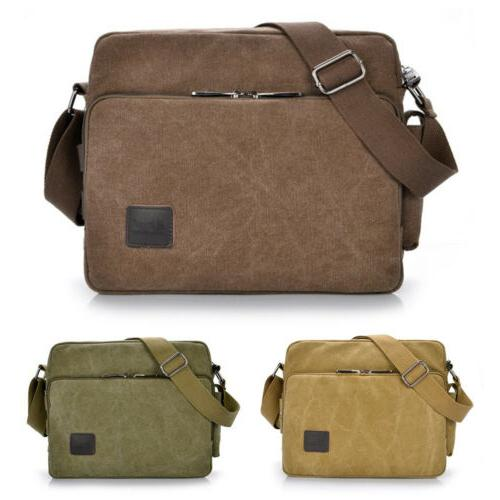 Men Vintage Military Crossbody School Satchel Messenger Shoulder Bags