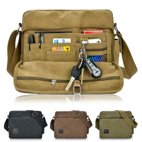 Men Military Canvas Crossbody Bag Satchel Messenger
