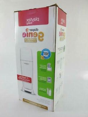 Playtex NEW Diaper Genie Complete All in Disposal Can+ Bag