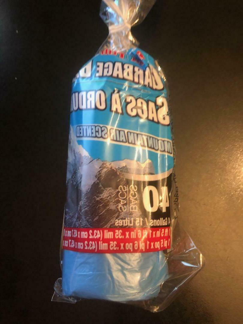 New Scented Garbage Bags 4, or 13 Gallon -