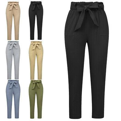 Pants Trouser Cropped Paper Waist Waisted
