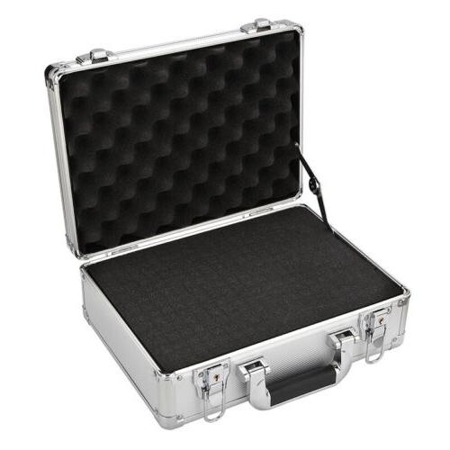Silver Mens Briefcases Flight Cases Office File Storage with