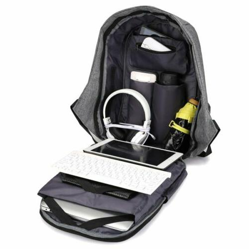Unisex Anti-Theft Backpack Travel With Charging Port