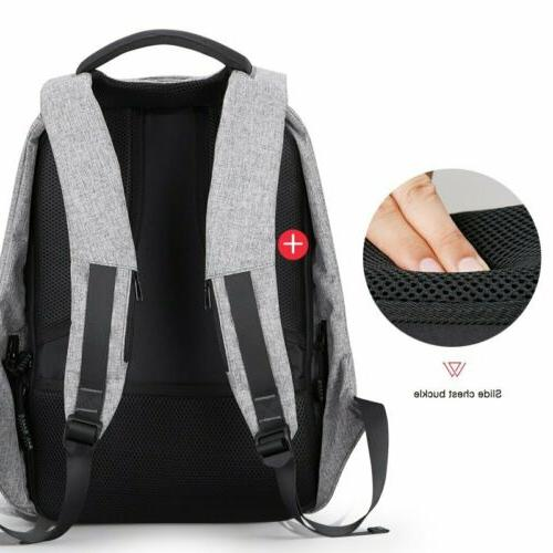 Unisex Travel School Bag With Charging