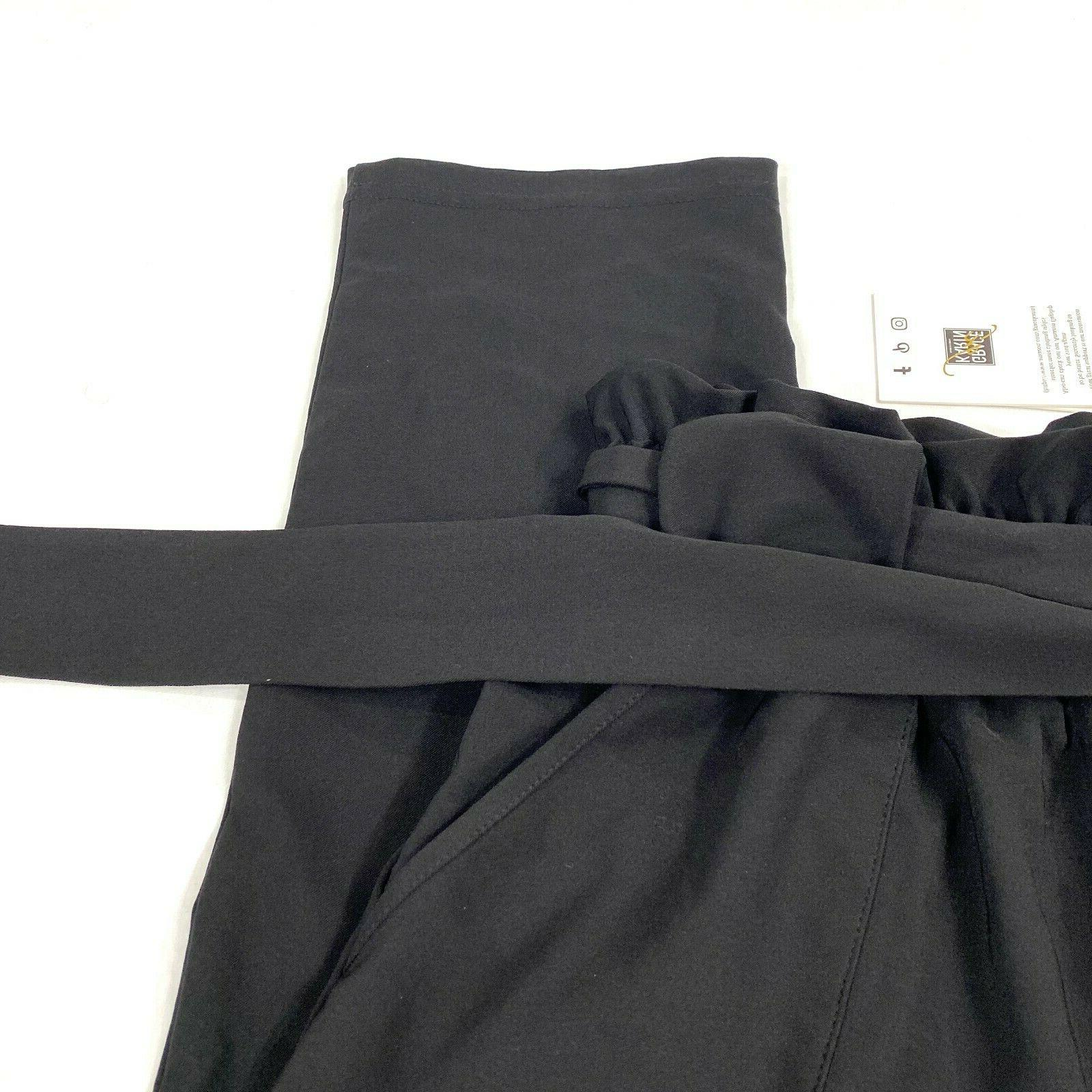 Grace paper bag black NEW size small side pockets