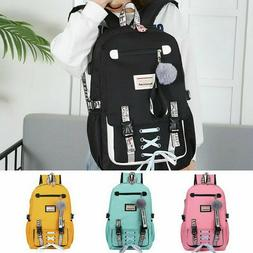 HOT! Large School Bags for Teenage Girls Usb with Lock Anti