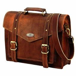 leather computer bag for office leather cross