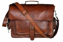 Leather Laptop Bag | Leather Messenger for Men and Women | B
