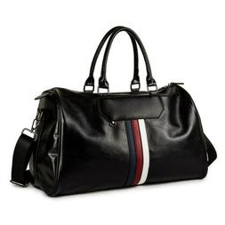 Men's Leather Shoulder Bags Duffle Bags Carry-on Handbag Tra