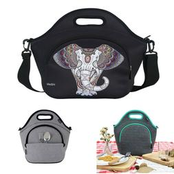 Neoprene Lunch Tote Bag For Women&Men-With Zipper-Keeping Fo