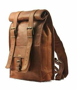 New Genuine Roll Leather BackPack Rucksack  Travel Bag For M