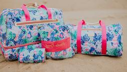 Lilly Pulitzer NWT Carry On Duffle Bag Quill Out