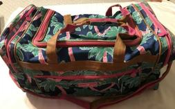 """NWT  Simply Southern Large Duffel Duffle Bag 20""""  Palm Trees"""
