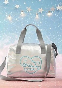 *NWT* Limited Edition 2018 Justice Duffle Bag For Girls Silv