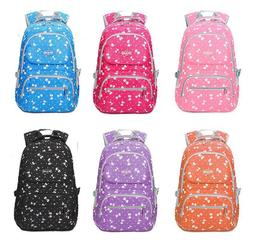 Primary Middle School Bags for Girls Kids Bow Tie Printing B