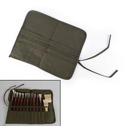 Roll Up Canvas Paints Brush Bag For Artist Draw Pens Brush S