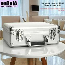 Silver Mens Briefcases Aluminum Flight Cases Office File Sto