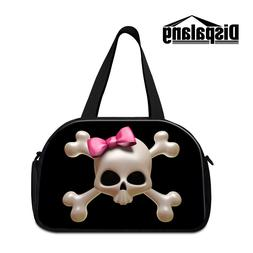 Skull Shoulder Travel Bags for Women Cool Large Duffle Bags