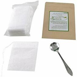 Tea Filters Filter Bags, Unbleached 100% Natural Empty For L