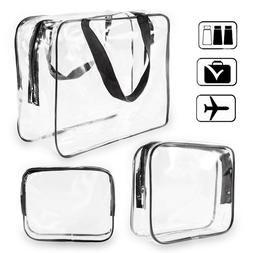 TSA Approved Toiletry Bag Clear Travel Cosmetics bag for Wom