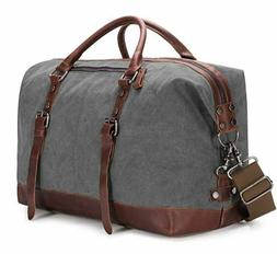Travel Bag Canvas Tote Overnight Bag For Women Men Large Wee
