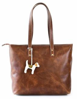 vintage genuine leather tote bag for women