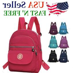 Waterproof Mini Backpack Women Purse Nylon Shoulder Rucksack