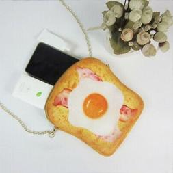 Woman Bag Cute poached egg toast bag chocolate roll bag for