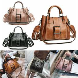 Women Shoulder Bags Vintage Handbag Tote Leather Boho Crossb