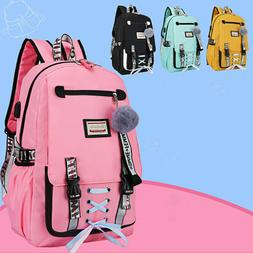 Womens Large School Bags for Teenage Girls Usb with Lock Ant